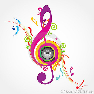 Free Musical Background With Fly Clefs Stock Images - 18255454