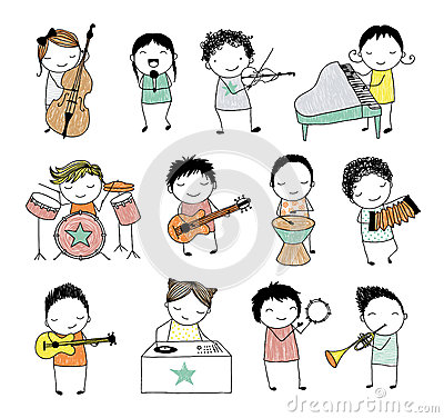 Musical band Vector Illustration