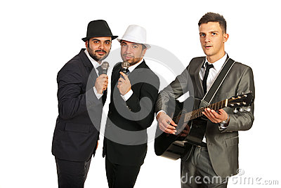 Musical band of men