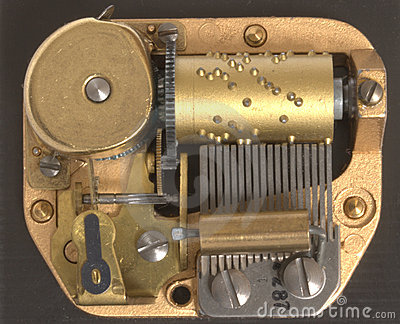 Musical Box Inside Mechanism Royalty Free Stock Images