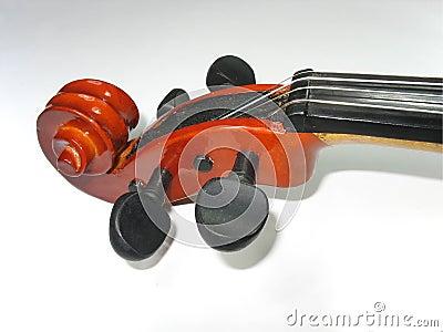 Musical classic violin macro detail