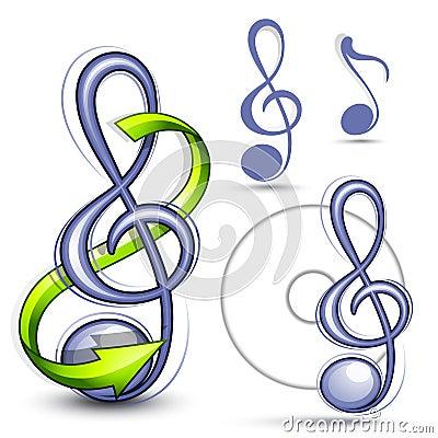 Musical clef symbols
