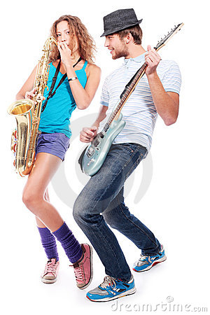 Free Musical Couple Stock Images - 11664144