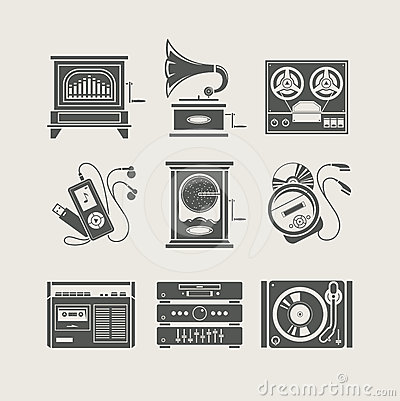 Free Musical Device Set Of Icon Royalty Free Stock Photos - 24396868