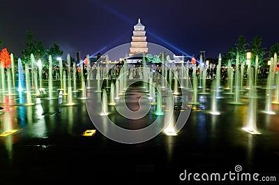 Musical Fountain Show in Xian