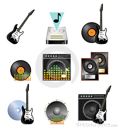 Musical icon set