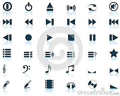 Musical icons set