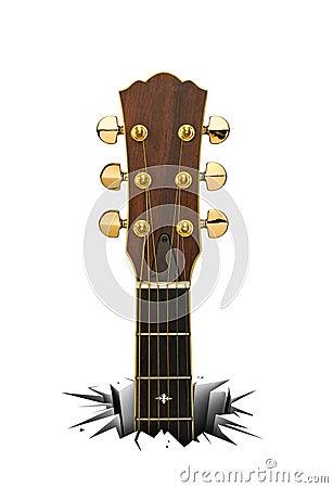 Acoustic guitar for folk music