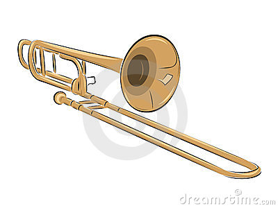 Musical instrument trombone illustration