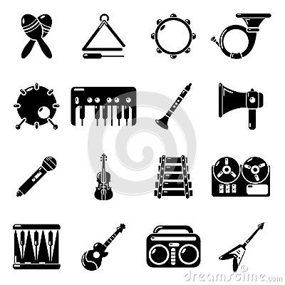 Free Musical Instruments Icons Set, Simple Style Royalty Free Stock Photos - 95444718