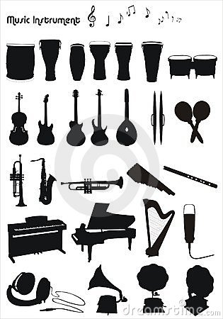 Musical instruments  shapes