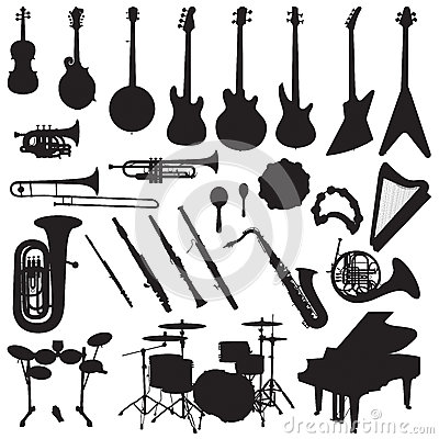 Free Musical Instruments Vector Royalty Free Stock Photography - 32159547