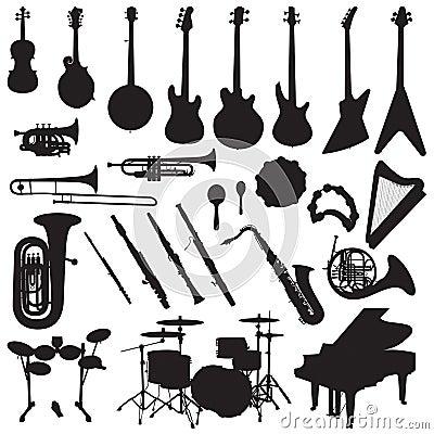 Musical Instruments Vector Vector Illustration