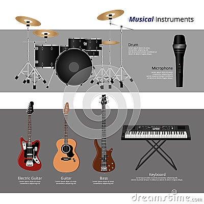 musical instruments stock vector image 69460553. Black Bedroom Furniture Sets. Home Design Ideas