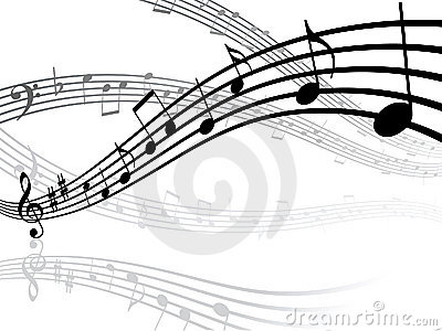 Musical lines with notes
