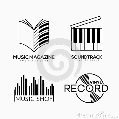 Musical logo Vector Illustration