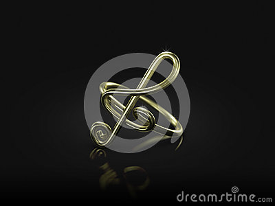 Musical note ring commitment