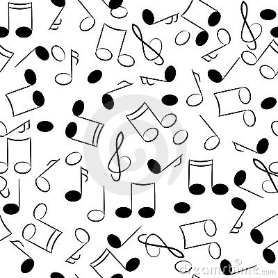 Musical note seamless texture.tune symbols