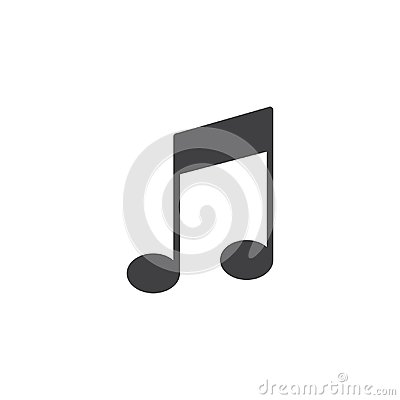 Musical note vector icon Vector Illustration