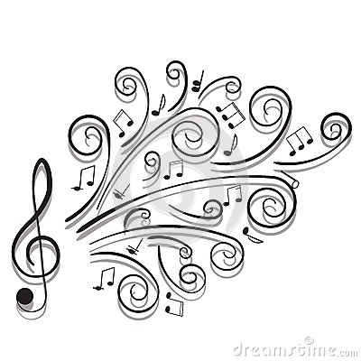 Free Musical Notes. Stock Photography - 30016142