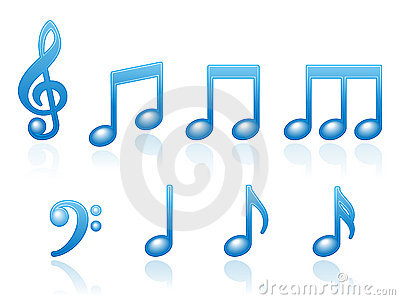 Musical Notes Icons EPS