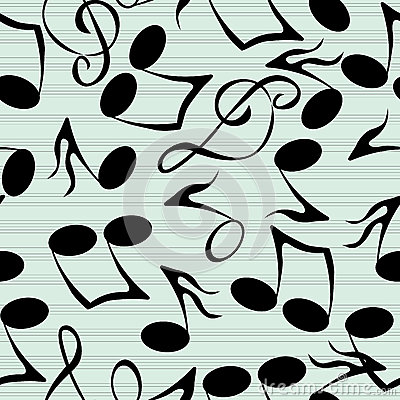 Musical notes pattern