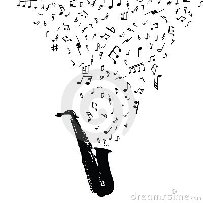 Musical notes staff