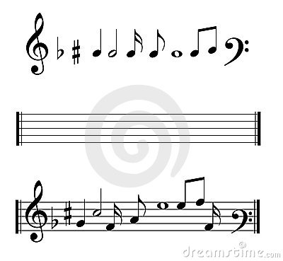 Musical Notes symbols set