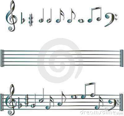 Free Musical Notes Symbols Set Royalty Free Stock Photography - 8803667