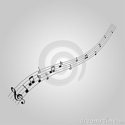 Free Musical Notes With The G-clef Royalty Free Stock Photos - 74801068