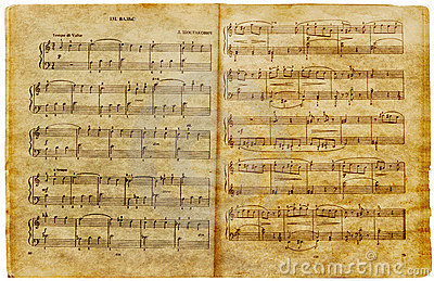 Musical old notes page