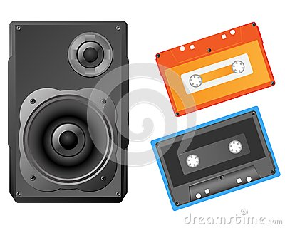Musical speaker and audiocassette