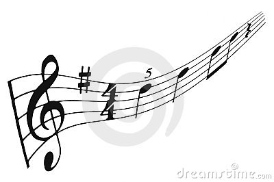 Musical staff and notes
