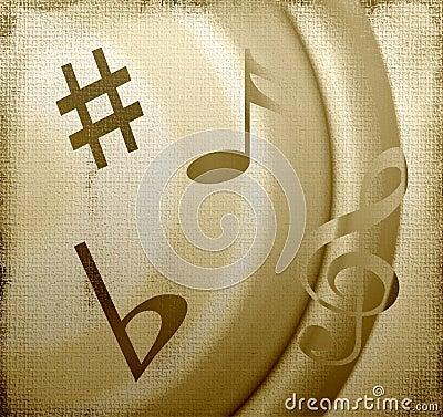 Musical Symbols on Canvas