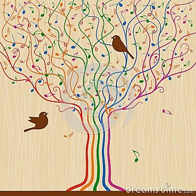 Musical Tree Vector Illustration