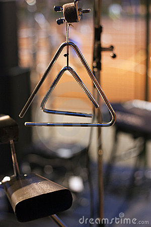 Musical triangle and cowbell