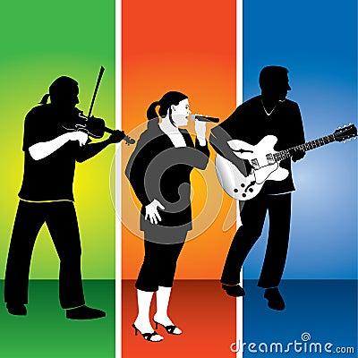Musical trio illustration
