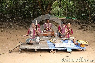 Cambodian Musicians Editorial Photo