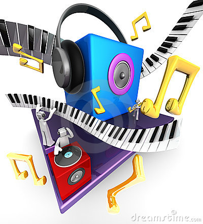Free Musical World Concept Royalty Free Stock Image - 16774946