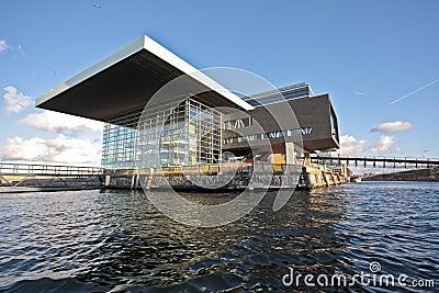 Musicbuilding in Amsterdam harbor in the Netherlan