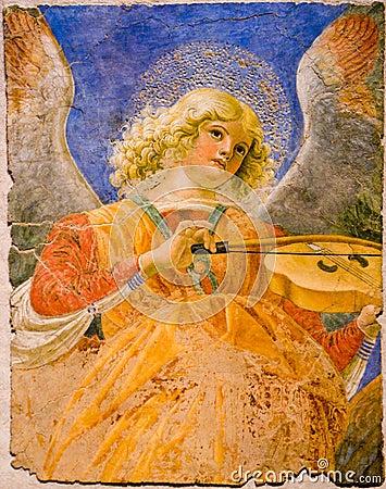 Musician angel Editorial Photo
