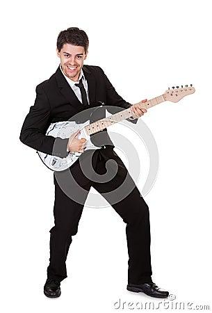 Musician in black