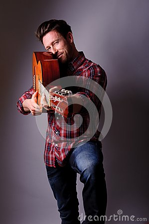 Musician with classic guitar