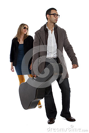 Musician with his girlfriend