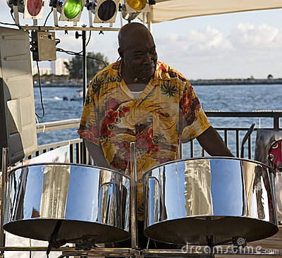 Free Musician On Steel Drums Stock Images - 1281364