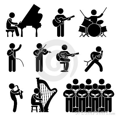 Free Musician Pianist Concert Choir Pictogram Stock Photo - 22355120