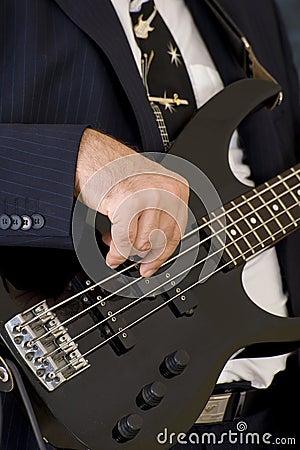 Musician playing an instrument
