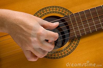 Musician plays a musical instrument,guitarist