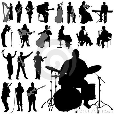 Free Musician Silhouettes Royalty Free Stock Photo - 6371575