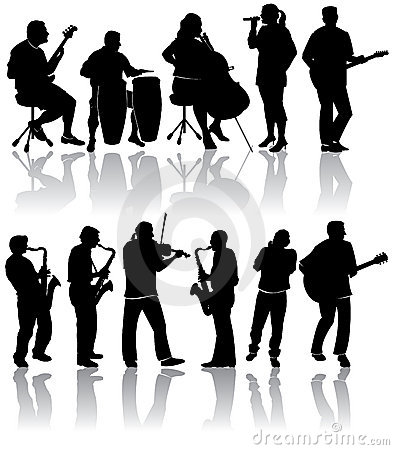 Free Musician Silhouettes Royalty Free Stock Photography - 7122247